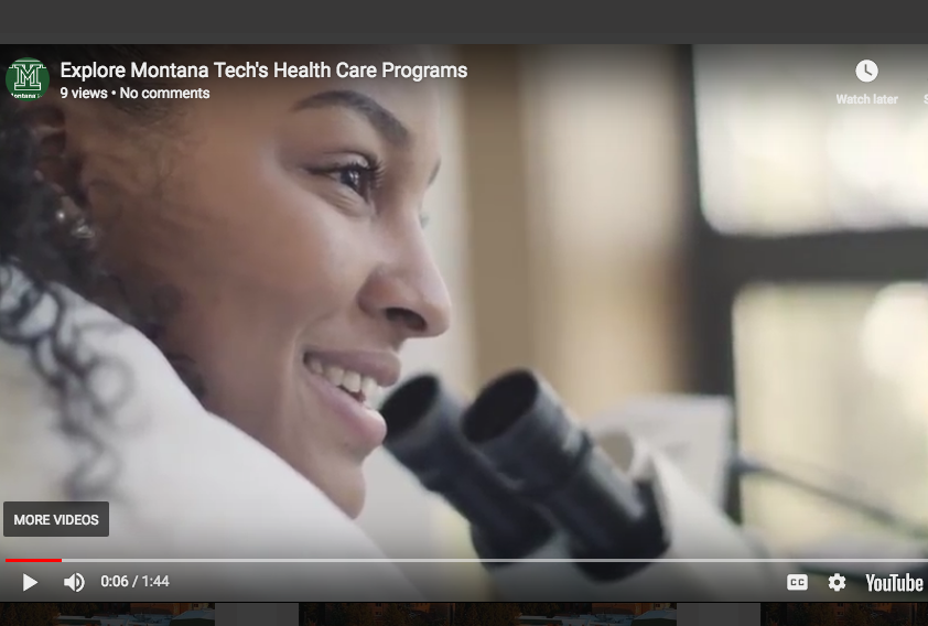 prepare for a healthcare career at Montana Tech